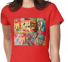 Revolutionary Mural Collage Womens Fitted T-Shirt