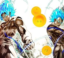 Goku and Vegeta Dragonball Z Super  by angelnava