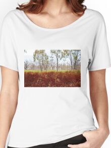 Outback lakeview, off highway between Lightning Ridge and Moree, NSW Women's Relaxed Fit T-Shirt