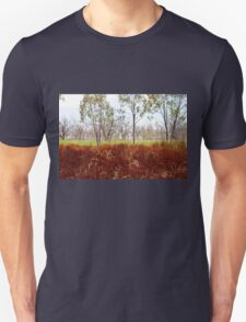 Outback lakeview, off highway between Lightning Ridge and Moree, NSW Unisex T-Shirt