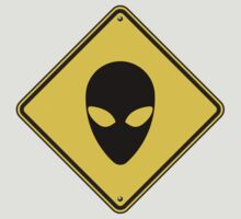 Alien Caution Sign by cpotter