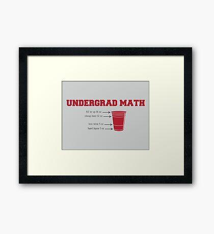 Undergrad Math Framed Print