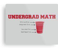 Undergrad Math Metal Print