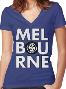 Melbourne#3 Women's Fitted V-Neck T-Shirt