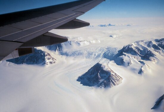 The Antarctic Continent from the Air by Carole-Anne