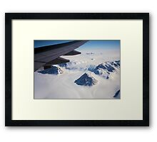 The Antarctic Continent from the Air Framed Print