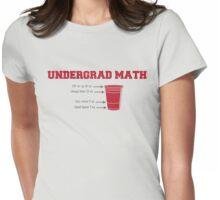 Undergrad Math Womens Fitted T-Shirt