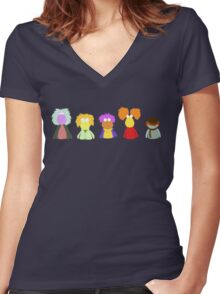 Fraggle Rock On Women's Fitted V-Neck T-Shirt