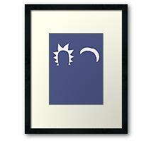 Rick & Morty minimalist (white) Framed Print