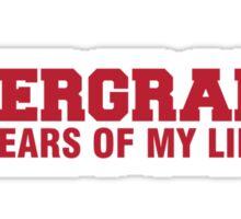 Undergrad Sticker