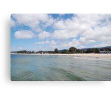 Wading into Monterey Bay Canvas Print