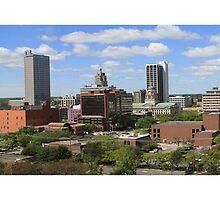 Downtown Fort Wayne, Indiana Skyline by John McGauley
