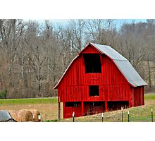 Another Red Barn 3 Photographic Print