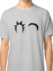 Rick & Morty minimalist (black) Classic T-Shirt