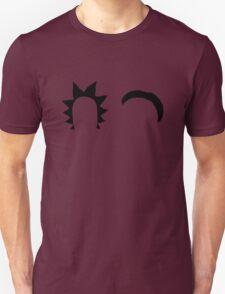 Rick & Morty minimalist (black) Unisex T-Shirt