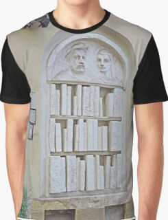 Bookshop Sculpture Graphic T-Shirt