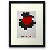 Gamer at heart Framed Print