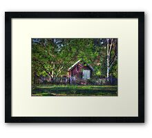 Love Shack Framed Print