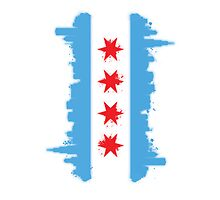 Chicago Flag Skyline by Mike Maher