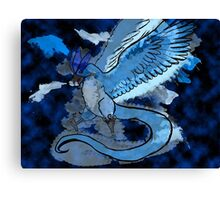 Articuno Through the Frost Canvas Print