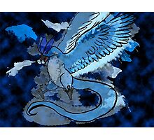 Articuno Through the Frost Photographic Print