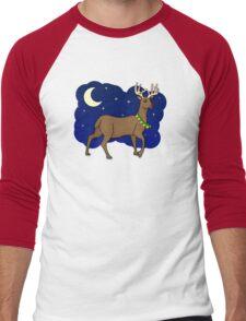 Night Reindeer Men's Baseball ¾ T-Shirt