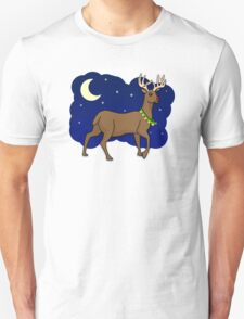 Night Reindeer Unisex T-Shirt