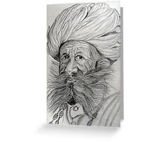 Man with Magnificent Mush!. Greeting Card