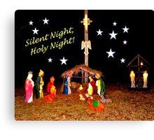 Nativity Scene Canvas Print