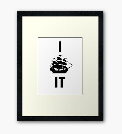I SHIP IT (black lettering) Framed Print