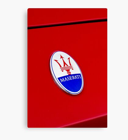 HELLO MY NAME IS : MASERATI Canvas Print