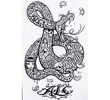 Tattoo style Graffiti Photographic Print