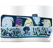 Abstract Graffiti Wall Poster