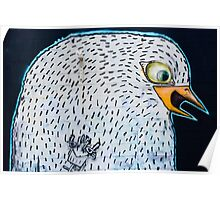 Abstract Graffiti Bird on the textured wall Poster
