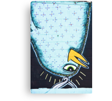 Upside-down Graffiti Bird Canvas Print