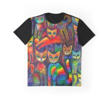 Rainbow cats acrylics Graphic T-Shirt