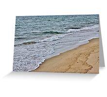 Winter waves Greeting Card