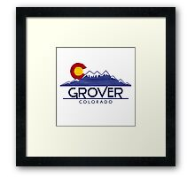 Grover Colorado wood mountains Framed Print