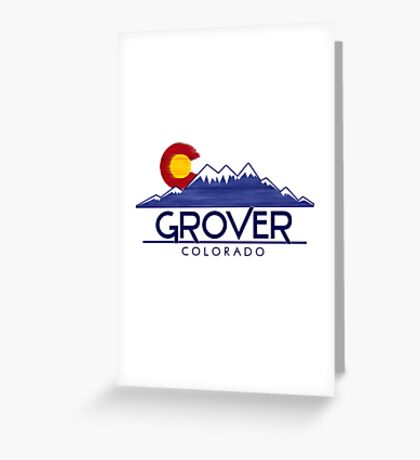 Grover Colorado wood mountains Greeting Card