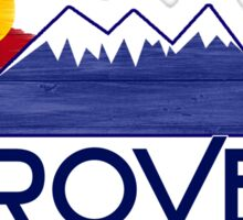 Grover Colorado wood mountains Sticker