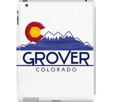 Grover Colorado wood mountains iPad Case/Skin