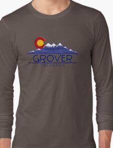 Grover Colorado wood mountains Long Sleeve T-Shirt