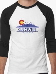 Grover Colorado wood mountains Men's Baseball ¾ T-Shirt