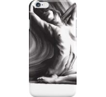 Fount iv - conté drawing  iPhone Case/Skin