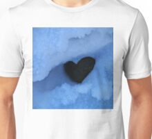 Negative Heart in Snow Unisex T-Shirt