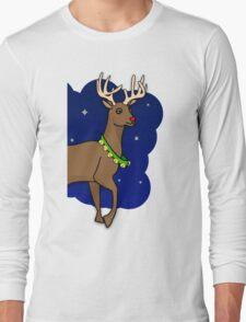 Night Reindeer (Right) Long Sleeve T-Shirt