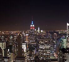 Manhattan skyline at night by Paul Roberts