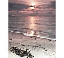 Saundersfoot Beach Sunrise Photographic Print