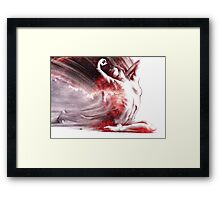 Fount iv, conté drawing - textured  Framed Print