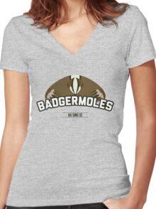 Ba Sing Se Badgermoles Women's Fitted V-Neck T-Shirt